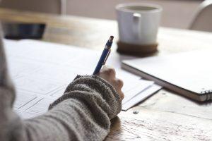 stylo papier calme